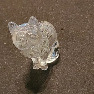 Crystal cat figurine (vintage)